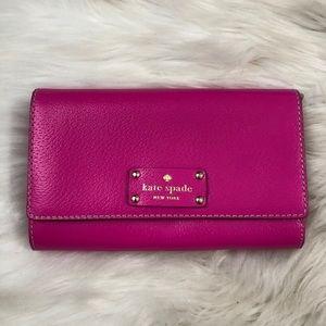 Hot Pink Kate Spade Clutch/Wallet
